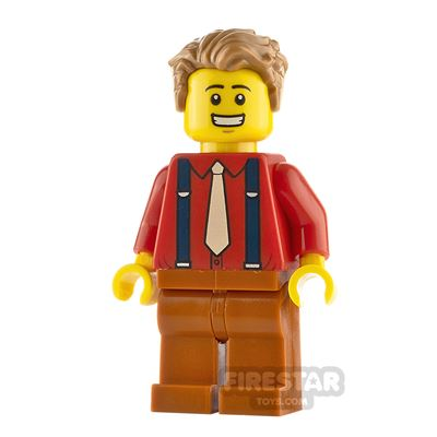 LEGO City Minfigure Male Shirt with Suspenders