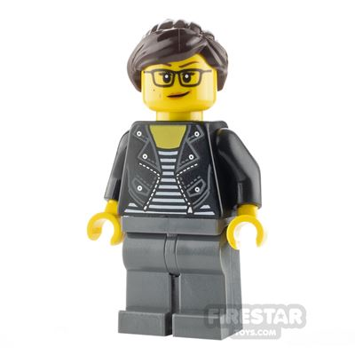 LEGO City Minfigure Woman with Striped T-shirt