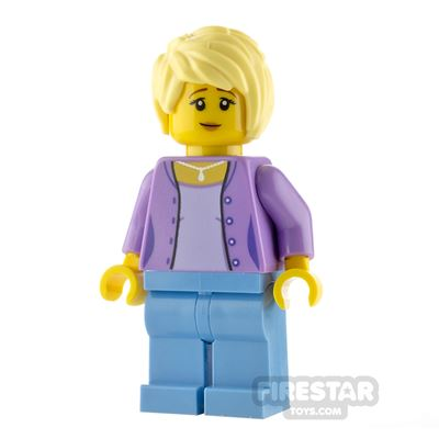 LEGO City Minfigure Woman with Lavender Jacket